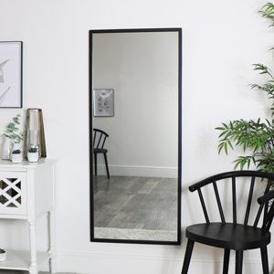 Large Black Rectangle Mirror 60cm x 140cm