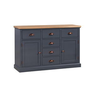 Large Dark Grey Sideboard Storage Unit - Grayson Range