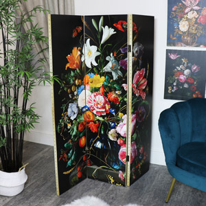 Large Floral Room Screen/Divider