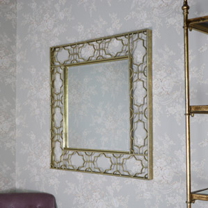 Large Gold Art Deco Mirror
