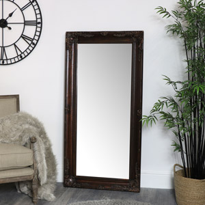Large Gold Brown Distressed Mirror 158cm x 79cm