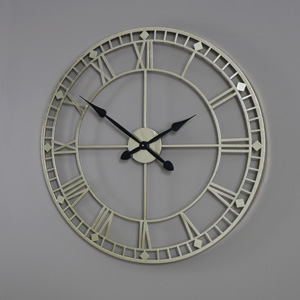 Large Gold Skeleton Style Wall Clock