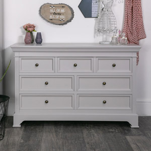 Daventry Dove Grey - Large Chest of Drawers