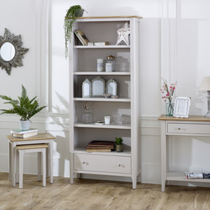 Devon Range - Large Grey Shelving / Bookcase