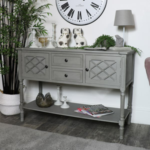 Large Grey Sideboard Storage Unit - Venice Range