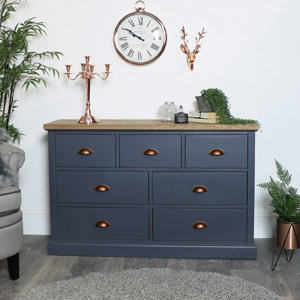 Large Grey Chest of Drawers - Grayson Range EX-SHOWROOM SECOND 3036