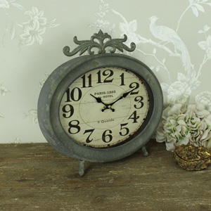 Large Grey Paris Mantel Clock