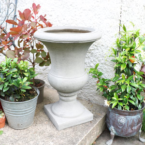 Large Grey Stone Effect Urn