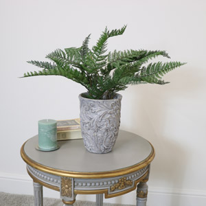 Large Grey Vintage Planter