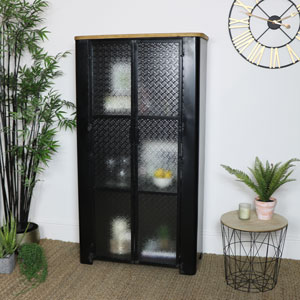 Large Industrial Glass Fronted Cabinet