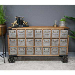 Large Industrial Multi Drawer Storage Cabinet