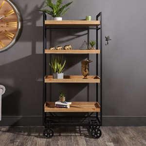 Large Industrial Trolley Storage Display Shelving Unit