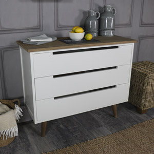 Large Ivory Chest of Drawers - Stockholm Range