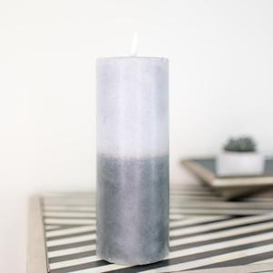 Large LED Grey Candle