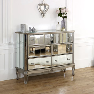 Large Mirrored Chest of Drawers - Tiffany Range