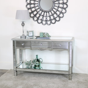Large Mirrored Console Table - Tiffany Range
