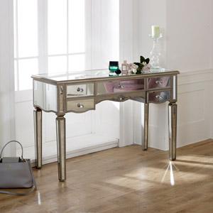 Large Mirrored Dressing Table - Tiffany Range