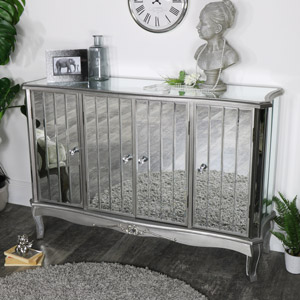 Large Mirrored Sideboard - Tiffany Range