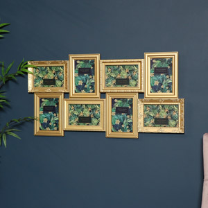 Large Multi Aperture Gold Photo Frame