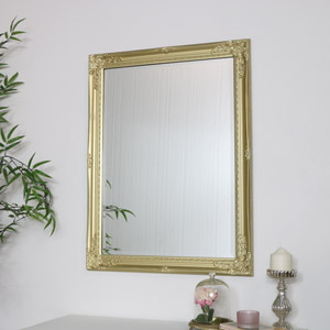Large Ornate Gold Wall Mirror 82cm x 62cm