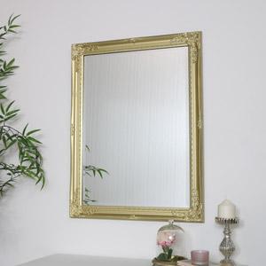 Large Ornate Gold Wall Mirror 82cm x 62cm