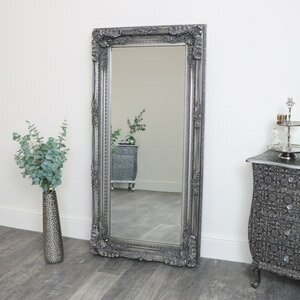 Large Ornate Silver Wall / Floor Mirror 78cm x 158cm