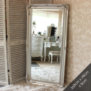 Large Silver Ornate Wall/Floor Mirror 158cm x 78cm