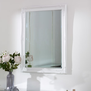 White Wall Mirror 62cm x82cm