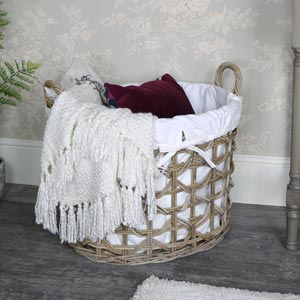 Large Rattan Laundry Storage Basket