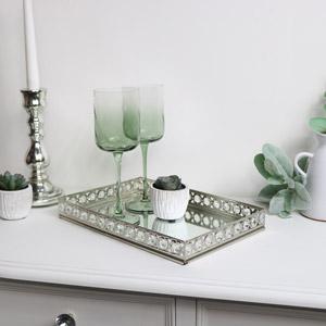 Large Rectangle Mirrored Jewel Display Tray