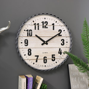 Large Retro Style Wall Clock
