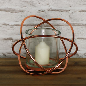 Large Rose Gold Cross Tealight Holder