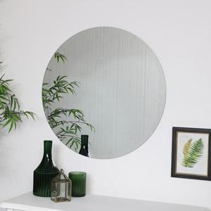 Large Round Frameless Mirror 70cm x 70cm
