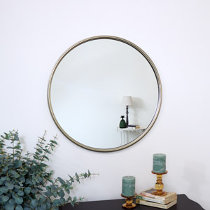 Large Round Gold Wall Mirror 70cm x 70cm
