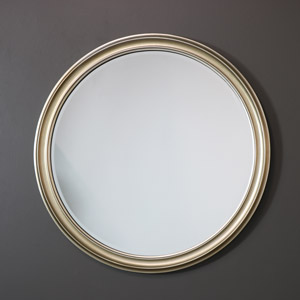 Large Round Silver Wall Mirror 79cm x 79cm