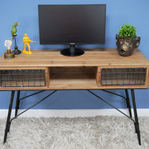 Large Rustic Industrial Desk