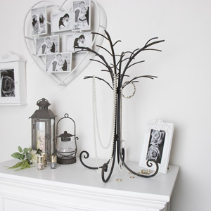 Large Rustic Metal Jewellery Holder Display Stand