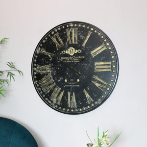 Large Rustic Wall Clock