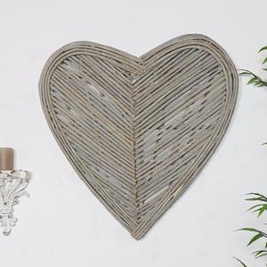 Large Rustic Wicker Heart Wall Art