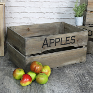 Large Rustic Wooden Storage Crate