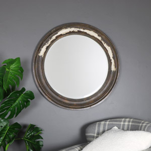 Large Rustic Wooden Wall Mirror