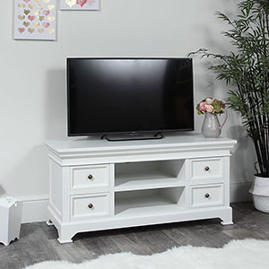 Large TV / Media Unit – Daventry White Range