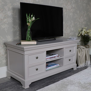 Large Grey TV/Media Cabinet – Daventry Taupe-Grey Range DAMAGED SECOND 3546