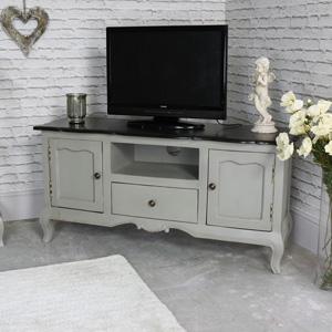 Large Vintage Grey Television Cabinet - Leadbury Range SECONDS ITEM 0070