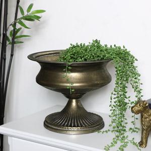 Large Vintage Pewter Urn