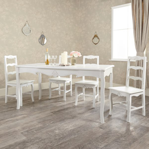Large Vintage White Dining Table - Jolie Range