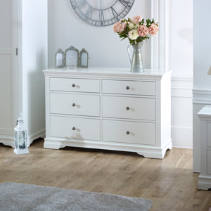 Large White Chest of Drawers - Newbury White Range
