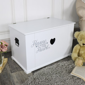 Large White Heart Storage Box