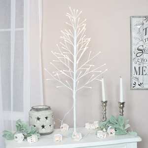 Large White LED Christmas Tree
