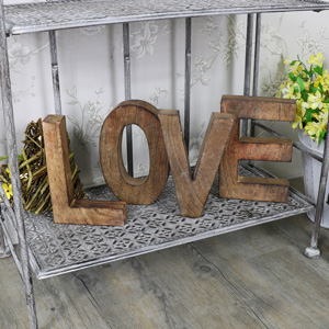 Large Wooden Freestanding 'LOVE' Letters